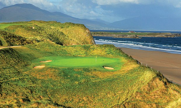 The par-3 16th at Tralee Golf Club.