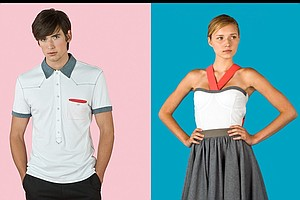 Two examples of the chic golf fashion line, Evan Golf.