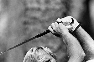 Jack Nicklaus during a practice round before the Masters at the Augusta National Golf Club in Augusta, Ga., April, 5, 1978.