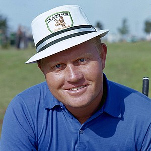 Golf legend Jack Nicklaus posing on the golf range, June 1, 1966.
