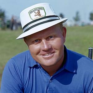 Golf legend Jack Nicklaus posing on the golf range, June 1, 1966.