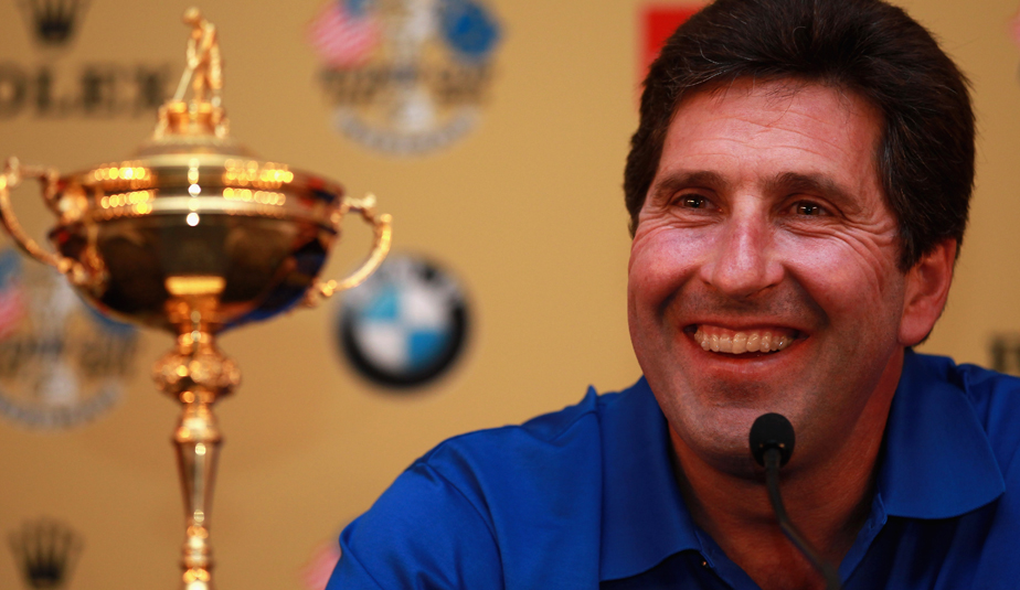Jose Maria Olazabal after being named the 2012 European Ryder Cup captain.