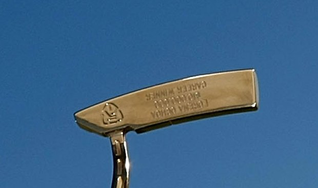 When a sponsored player wins on tour, Ping awards him or her a gold putter.