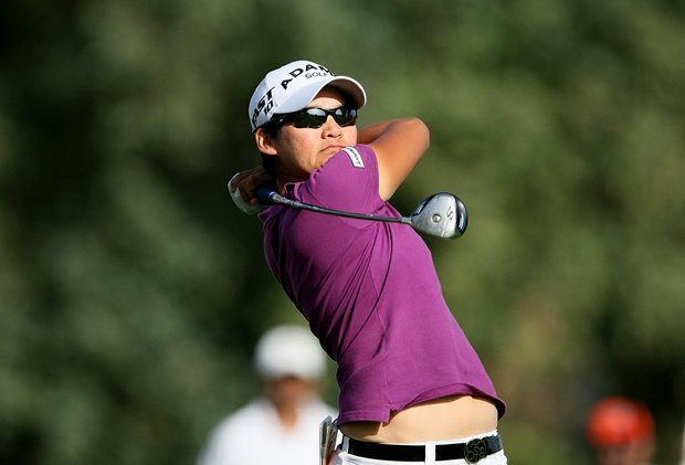 Yani Tseng shot a 67 for the third round of the Kraft Nabisco Championship on the Dinah Shore Tournament Course in Mission Hills on April 4, 2010.