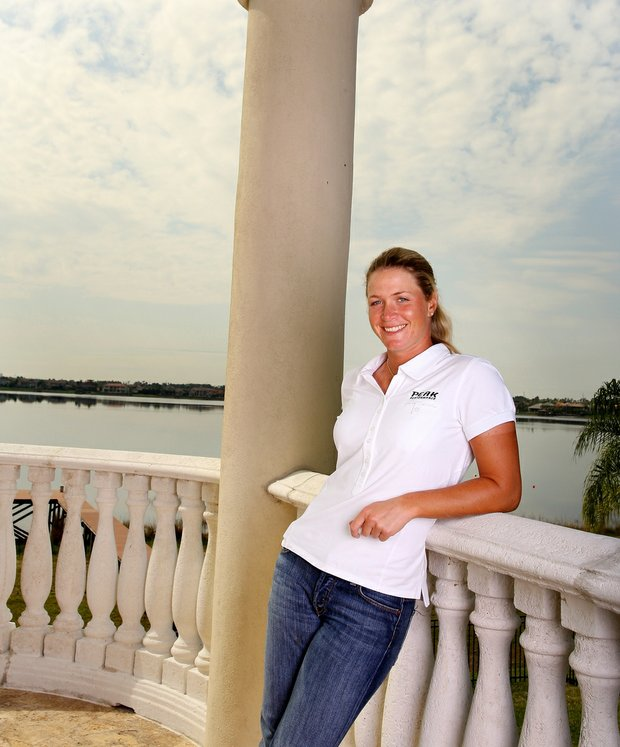 Suzann Pettersen of LPGA photographed at her home at Bay Hill.