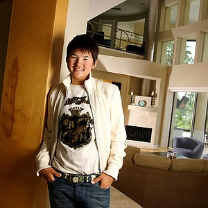 Yani Tseng in her home at Lake Nona Golf and Country Club. The home used to belong to Annika Sorenstam.