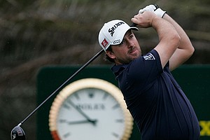 Graeme McDowell hits a shot during the second round of the Abu Dhabi Championship.
