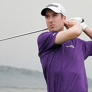 Ross Fisher at Abu Dhabi Golf Club's 15th.