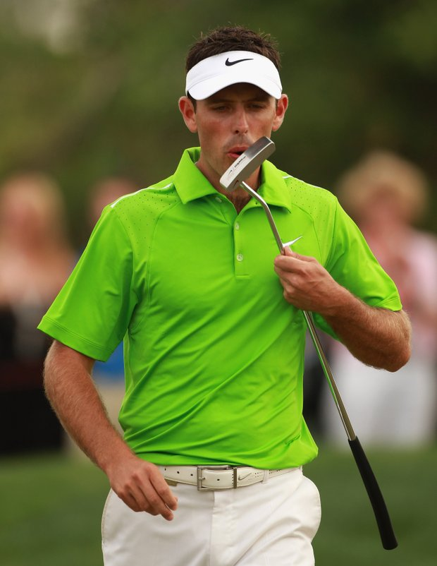 Charl Schwartzel of South Africa in action during the third round of The Abu Dhabi HSBC Golf Championship at Abu Dhabi Golf Club on January 22, 2011 in Abu Dhabi, United Arab Emirates.