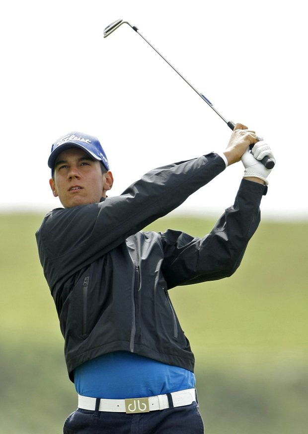 In this July 19, 2009, file phot, Matteo Manassero of Italy, follows a shot from the fourth tee during the final round of the British Open Golf championship, at the Turnberry golf course, Scotland. For the first time, three Italians have qualified to play at Augusta National. Edoardo and Francesco Molinari will become the first brothers to participate in the same Masters in 10 years. Also, 16-year-old Matteo Manassero, the British Amateur champion, will become the youngest golfer ever to play in the year's opening major.