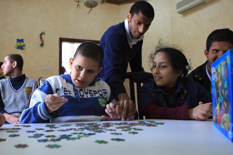 Children at Ability Center for Special Needs in Abu Dhabi.