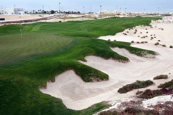 Royal Golf Club in Bahrain has plenty of sand but no traditional bunkers at Volvo Golf Champions.