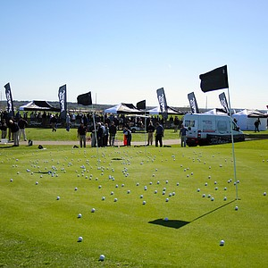 View of the chipping area at the Titleist booth on Demo Day of the 2011 PGA Merchandise Show.