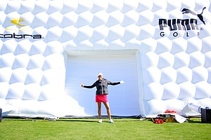 Lexi Thompson at the Cobra-Puma booth on Demo Day at the 2011 PGA Merchandise Show.