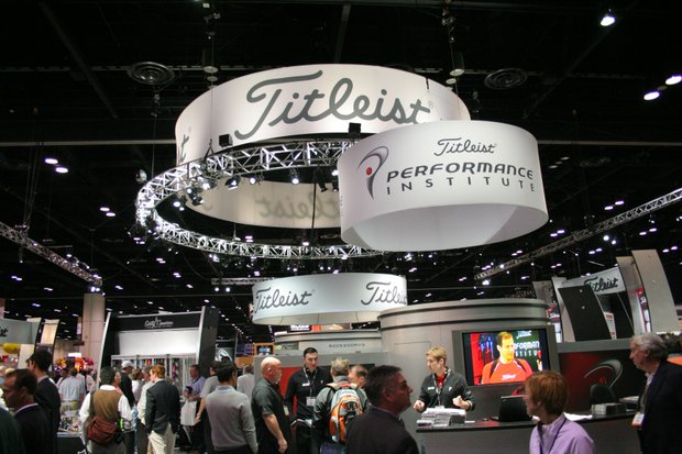 Booths were buzzing with plenty of interested customers, including the Titleist booth, on Thursday morning at the PGA Merchandise Show in Orlando, Fla. on January 27, 2011.