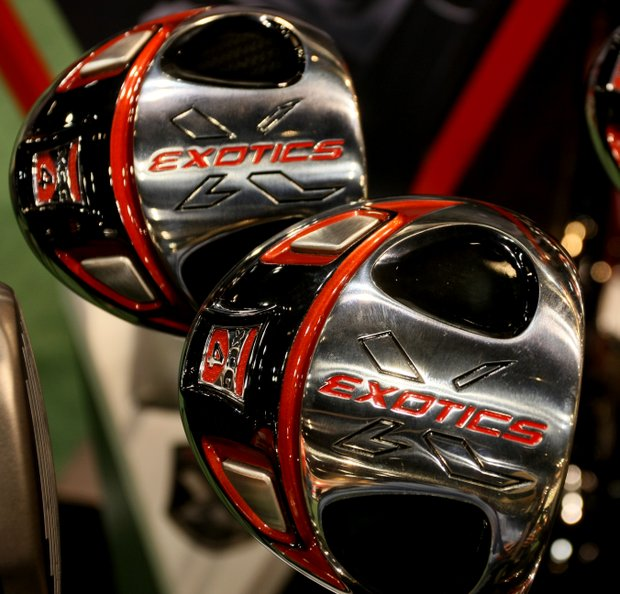 Tour Edge Exotics XCG-4: This is one of the lightest drivers on the market, with 276-gram and 310-gram models available. It has carbon-sole inserts that allow 27 grams of weight to be moved to the sole in the form of tungsten weights.  The club has a titanium clubface and sole with an amorphous carbon crown.