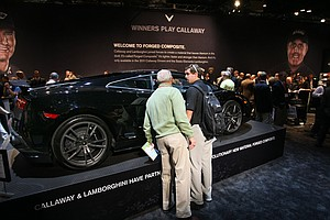 "Lamborghini and Callaway recently joined forces to create a new material called Forged Composite, featured in 2011 Callaway drivers and the Sesto Element Lamborghini. The 2011 Lamborghini Superleggera (which means ""super light"" in Italian) features the material in its body."