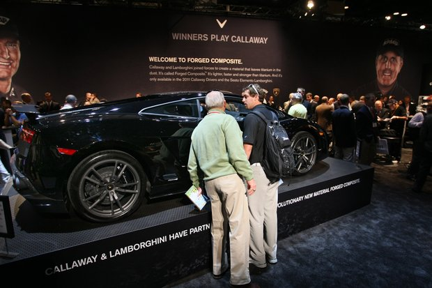 """Lamborghini and Callaway recently joined forces to create a new material called Forged Composite, featured in 2011 Callaway drivers and the Sesto Element Lamborghini. The 2011 Lamborghini Superleggera (which means """"super light"""" in Italian) features the material in its body."""