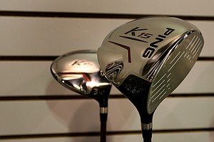 Ping K15: Designed to go straight and high, this club has a low and deep center of gravity for maximum forgiveness on off-center hits. This is the most forgiving of the Ping drivers bearing the number 15 in the name, compared to i15 and G15.