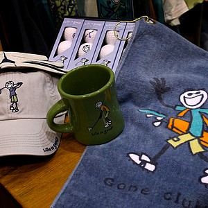 Life is Good's golf line, which debuted eight years ago, features gloves, hats, balls, water bottles, towels and t-shirts. The line is carried in roughly 1,000 pro shops nationwide.