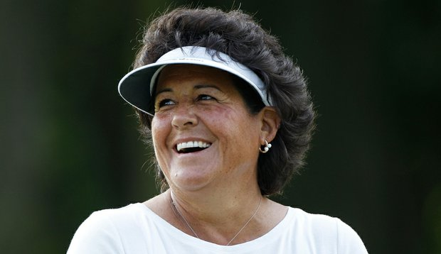 Nancy Lopez before the 2010 LPGA Championship.