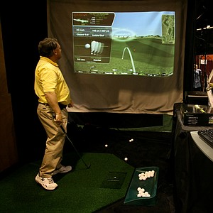 Optishot Infrared Golf Simulator: This affordable full-swing simulator measures the clubhead to provide realistic ballflight, and the information is presented on a home computer or laptop.