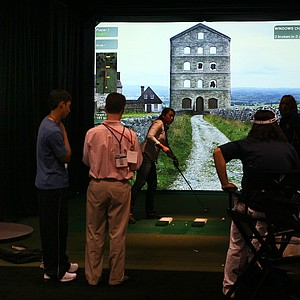 High Definition Golf: These full-swing simulators incorporate 3D modeling that combines digital images, satellite data and geophysical data to create a realistic landscape.