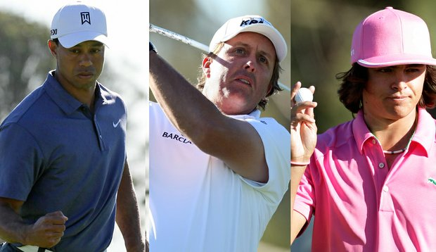 Tiger Woods, Phil Mickelson, Rickie Fowler