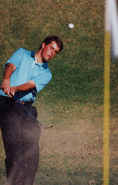 Phil Mickelson during his 1990 season at Arizona State University.