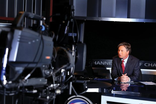 Brandel Chamblee shows his strength in the studio, where his commentary is backed by meticulous research.