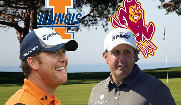 D.A. Points and Phil Mickelson each earned money for their respective alma maters on University Day.