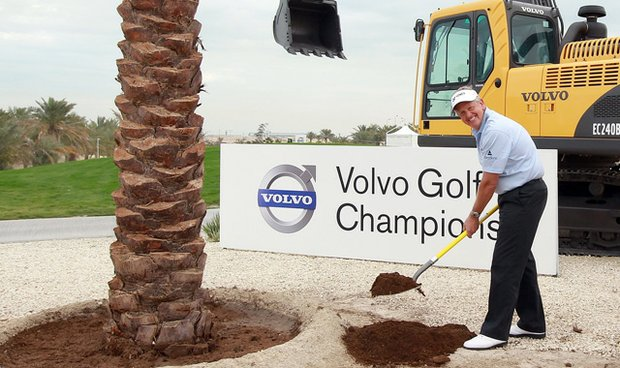 Colin Montgomerie poses for a photo ahead of the 2011 Volvo Champions in Bahrain at the Royal Golf Club, a course designed by the former Ryder Cup captain.