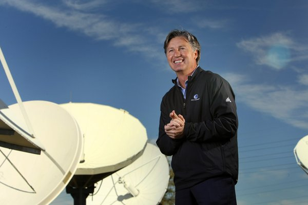 Brandel Chamblee, one of Golf Channel's lead analysts, stands outside the station's studios in Orlando, Fla.