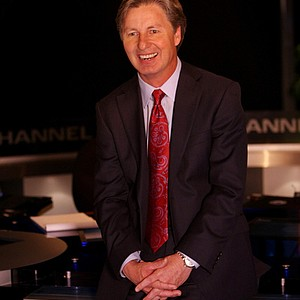 Golf Channel analyst Brandel Chamblee at the Golf Central desk at the station's studios in Orlando, Fla.