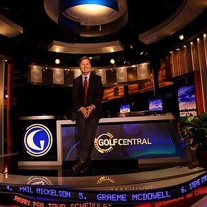 Brandel Chamblee at Golf Channel's Golf Central desk.
