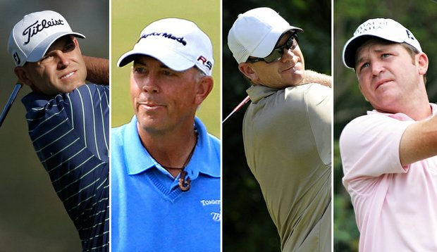 Bill Haas, Tom Lehman, Tom Gillis and Jason Bohn share the first-round lead at the Phoenix Open.