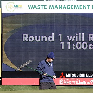 Frost delays at TPC Scottsdale will force a Monday finish for the Phoenix Open.