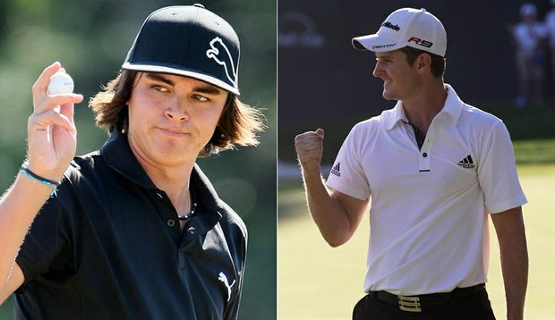 Rickie Fowler, left, and Justin Rose failed to qualify for last year's U.S. Open at Pebble Beach.