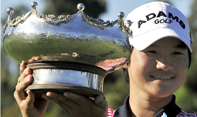 Yani Tseng was victorious again at the Women's Australian Open at the Commonwealth Golf Club in Melbourne Feb. 6, 2011.
