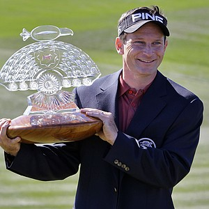 Mark Wilson after winning the Waste Management Phoenix Open.