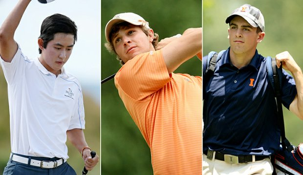 David Chung, Peter Uihlein and Scott Langley