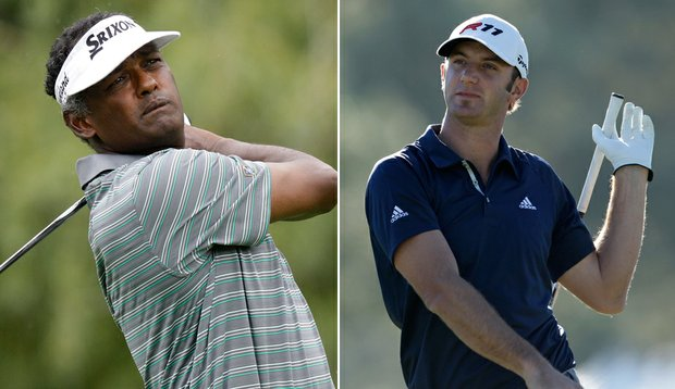 Vijay Singh and Dustin Johnson