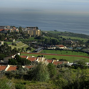 The campus boasts views of the Pacific Ocean, Catalina Island, Palos Verdes Peninsula, Long Beach and the west side of Los Angeles. The school is nestled in the ridges overlooking the Pacific Ocean.