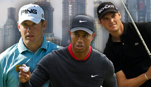 Lee Westwood, Tiger Woods and Martin Kaymer were paired together for the first two rounds of the Dubai Desert Classic.