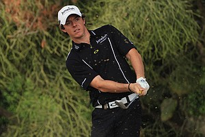 Rory McIlroy during the opening round of the Dubai Desert Classic.