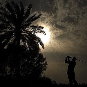 Rory McIlroy of Northern Ireland in action during the second round for the 2011 Omega Dubai desert Classic held on the Majilis Course at the Emirates Golf Club on February 11, 2011 in Dubai, United Arab Emirates