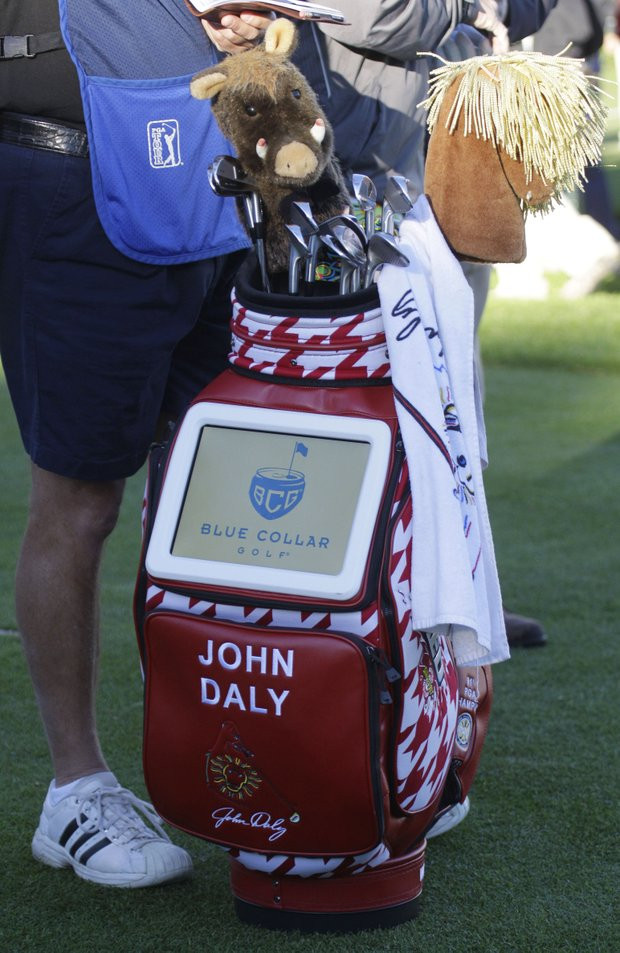 John Daly now has a TV built into his golf bag.