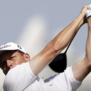 Anders Hansen holds a share of the lead after Round 3 of the Dubai Desert Classic.