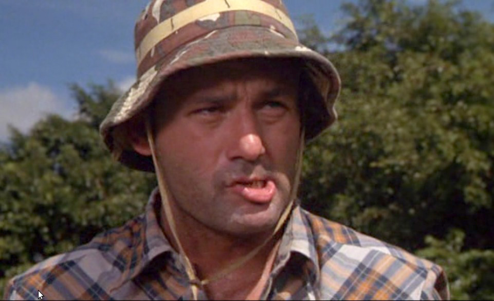 "Bill Murray, a few years younger in film ""Caddyshack"" (1980)."
