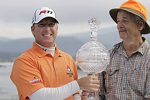 D.A. Points, left, and comedian Bill Murray after winning the 2011 AT&T Pebble Beach National Pro-Am.